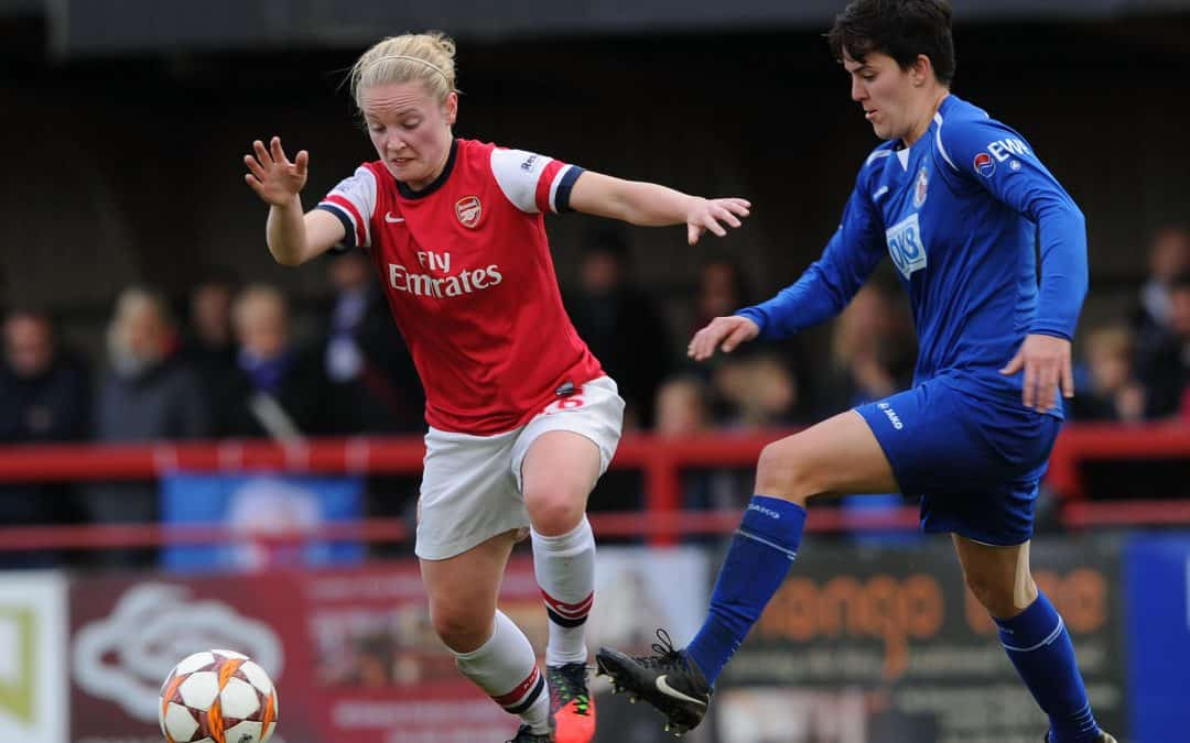 Arsenal Ladies in UEFA Champions League semi final action on Sunday