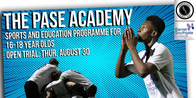 PASE ACADEMY TRIAL THIS THURSDAY
