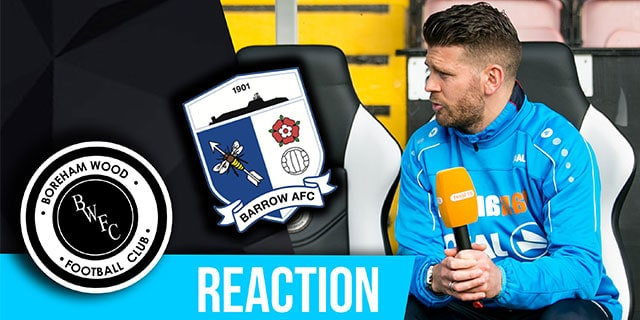 LUKE GARRARD REACTION – BARROW