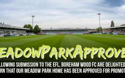 MEADOW PARK ACCEPTED FOR THE ENGLISH FOOTBALL LEAGUE