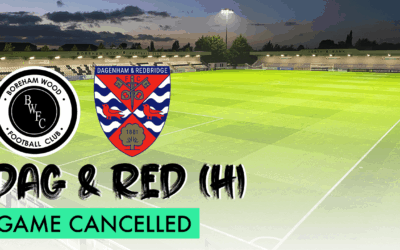 DAGENHAM & REDBRIDGE (H) – GAME OFF