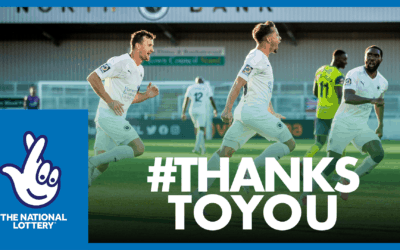 BOREHAM WOOD FC THANKS NATIONAL LOTTERY PLAYERS FOR THEIR SUPPORT