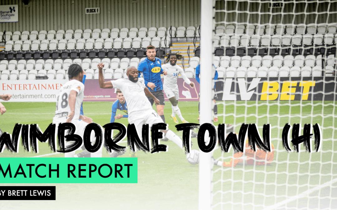 MATCH REPORT – WIMBORNE TOWN (H)