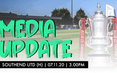 MEDIA UPDATE – SOUTHEND UNITED (H)