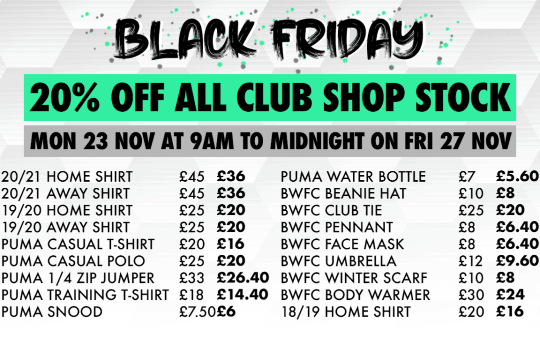 BLACK FRIDAY SALES COME TO THE WOOD