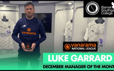 GARRARD SCOOPS DECEMBER MANAGER OF THE MONTH AWARD