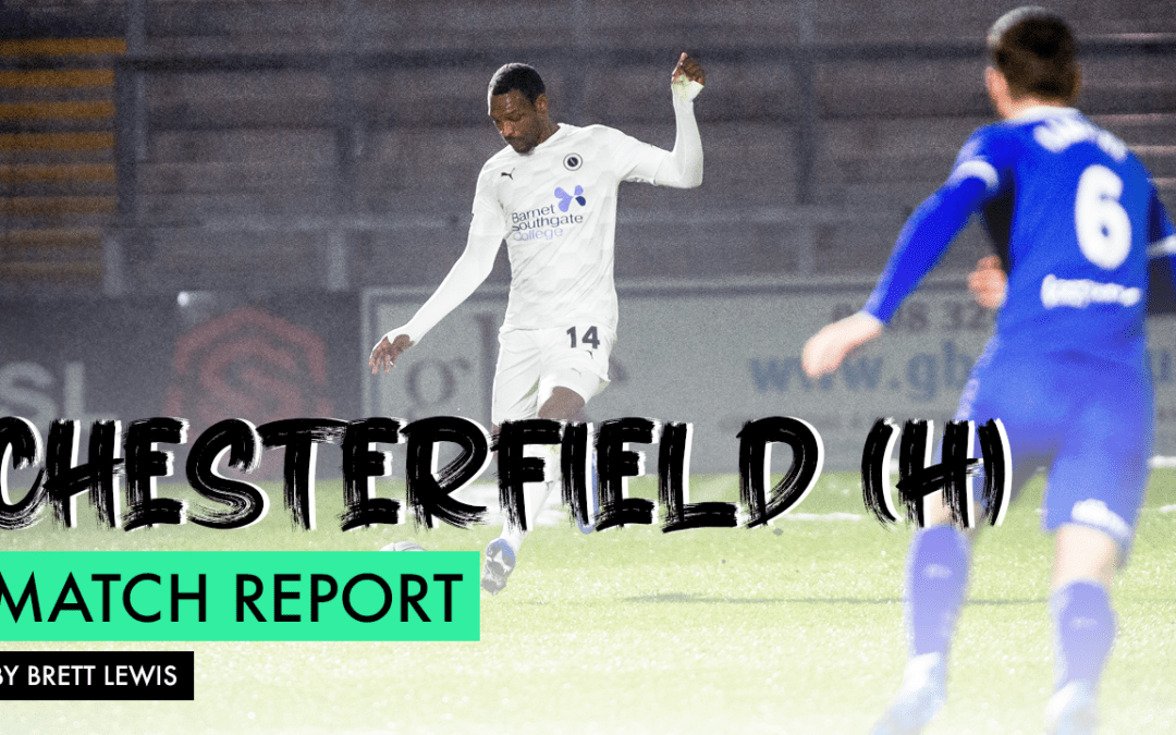 MATCH REPORT – CHESTERFIELD (H)