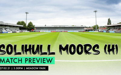 MATCH PREVIEW – SOLIHULL MOORS (H)