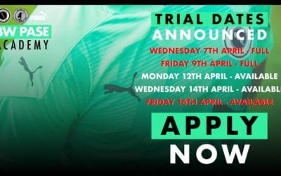 LESS THAN 30 SPACES REMAIN FOR EASTER ACADEMY TRIALS